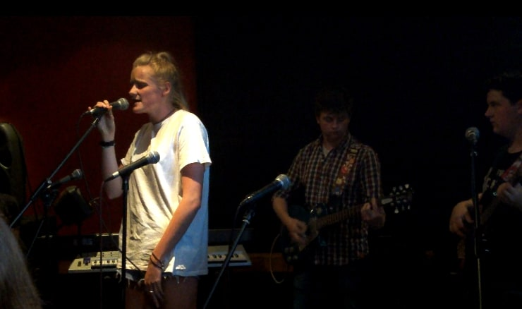 """Go"" - Jess with Tyler on guitar."