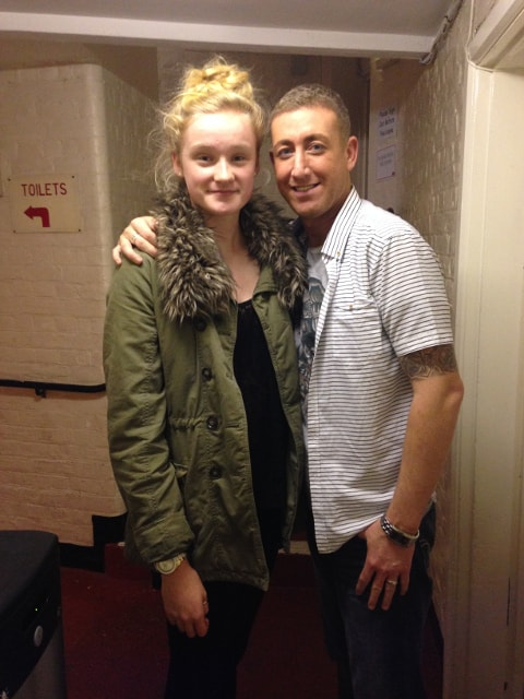Christopher Maloney with Jessica backstage 2013