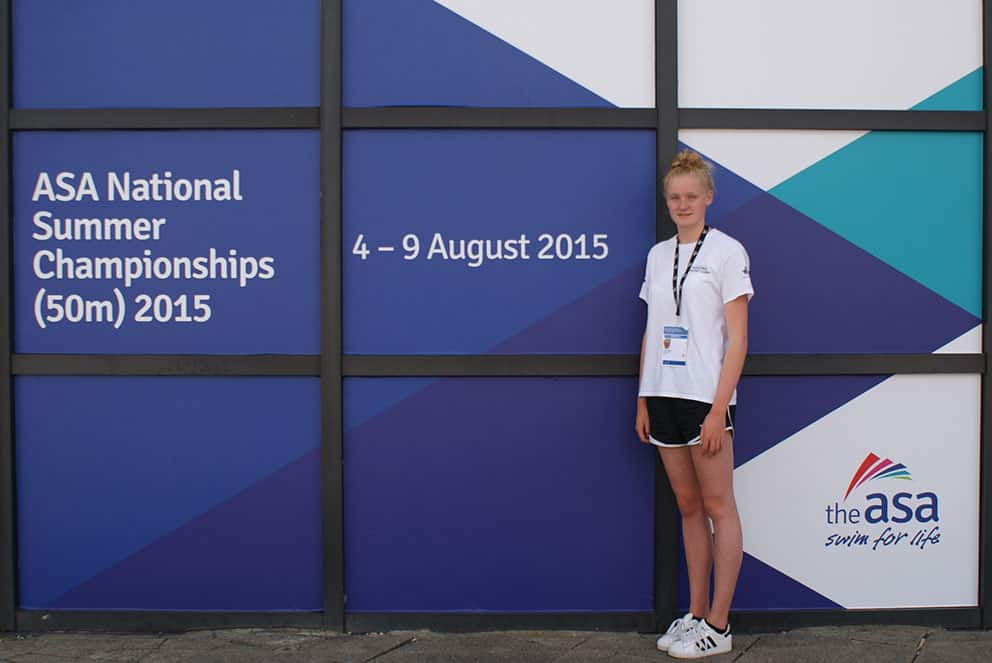 Jessica Davies at the ASA National Summer Championships