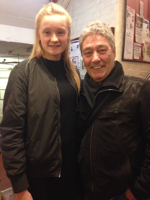 Jess and Aiden Harvey at the Kings Theatre 2014