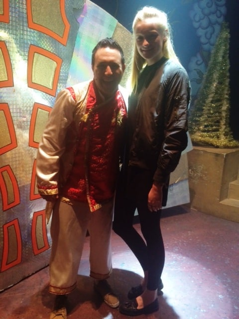 Jess with Antony Costa on stage Kings Theatre stage 2014