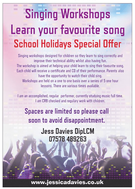School Holidays Special Offer