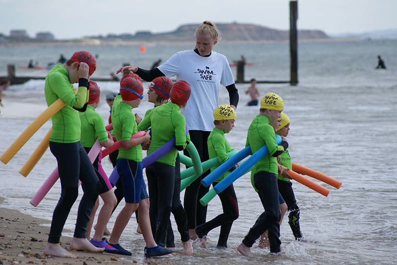 Jessica Davies, a Swim Safe Teacher, on Bournemouth Beach