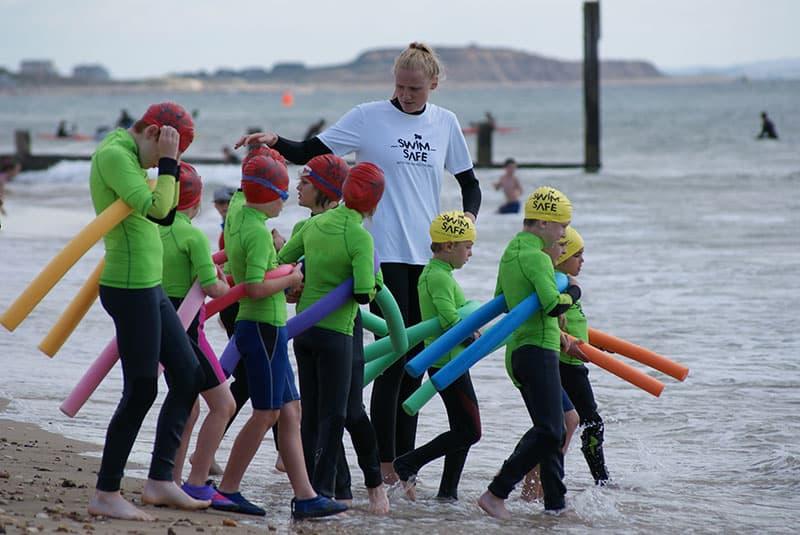Jessica Davies, a Swim Safe Teacher, on Bournemouth Beach